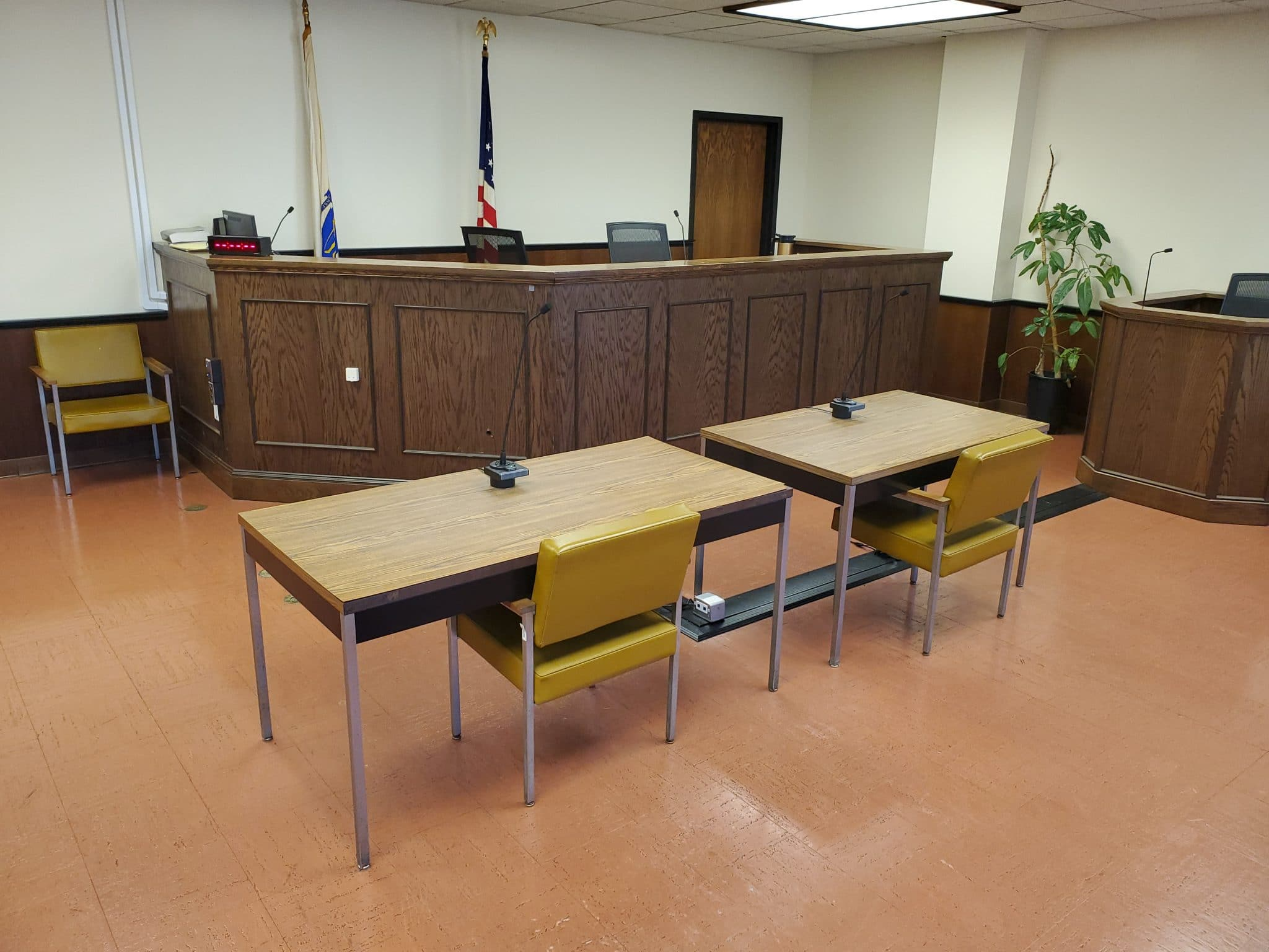 empty Board of Appeal Courtroom