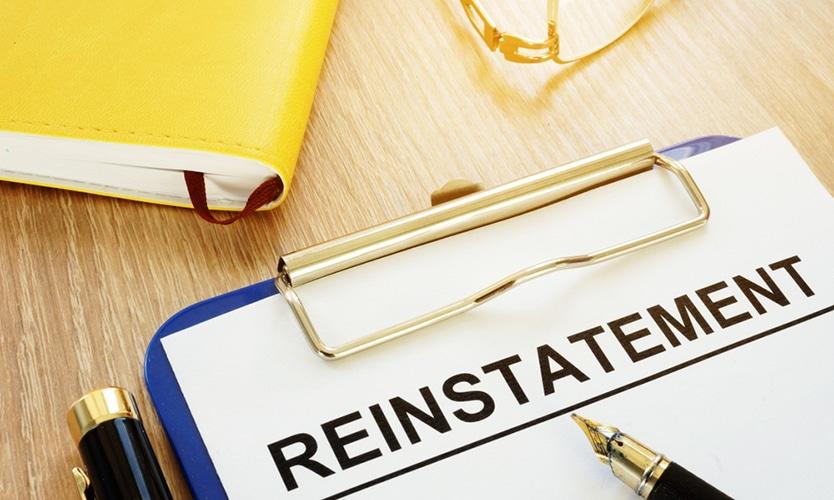license reinstatement